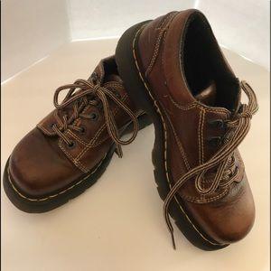 Dr Marten Brown Lace Up Shoes Size 8